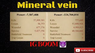 Clash of kings: Mineral Vein - 1Gs go boom 🤡