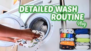CLOTH NAPPY WASH ROUTINE USING A WASHING MACHINE - FOR 2 KIDS UNDER 2 || Mommy and Baby Approved