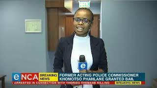 Phahlane granted bail