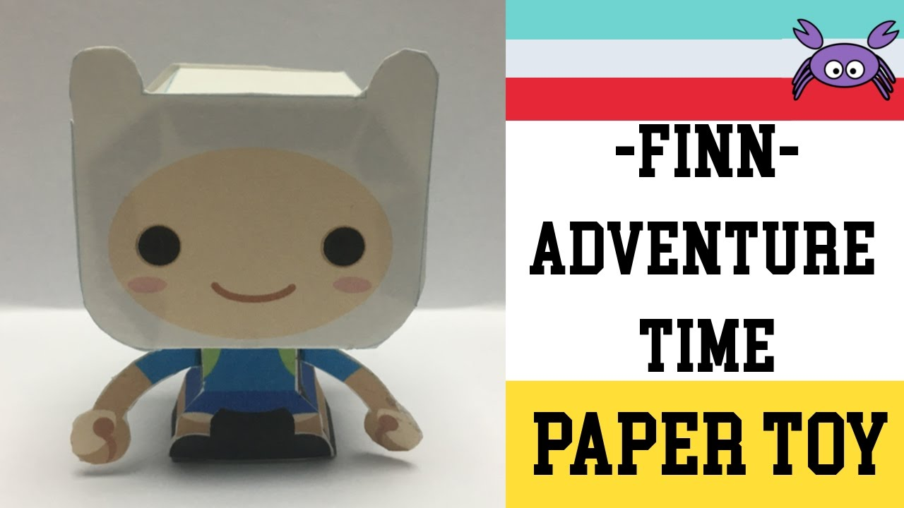 How To Make A Finn Adventure Time Paper Toy Papercraft Free Template By Gus Santome
