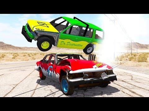 10 CAR DEMOLITION DERBY! - BeamNG.drive