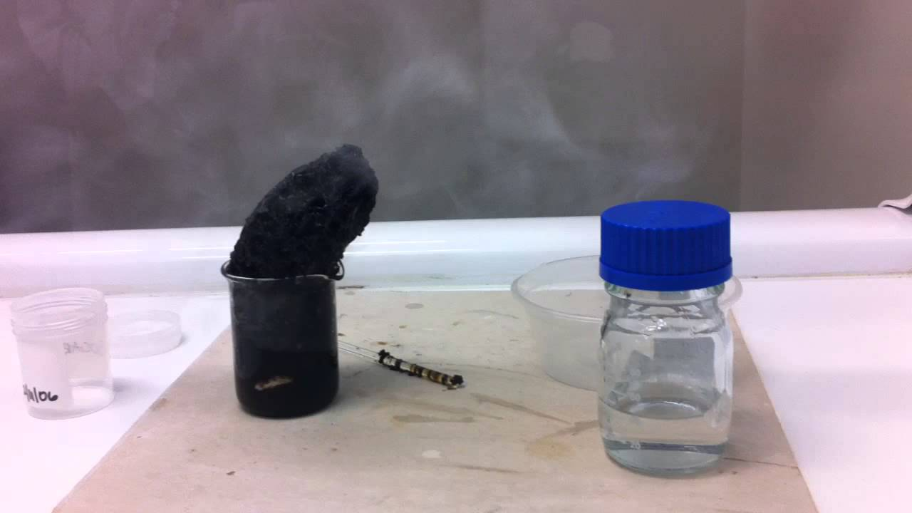 Dehydration Of Sugar With Sulfuric Acid