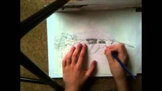 How to Draw an Assassins Creed 3 Hidden Blade