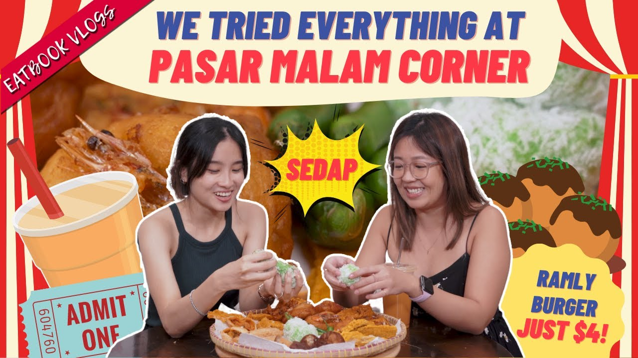 Download We Found A Permanent Pasar Malam In Singapore!   Eatbook Tries Everything   EP 8