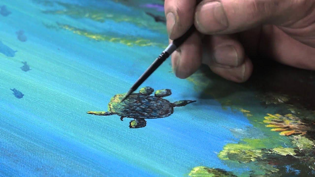 Underwater With Allen Montague YouTube - Ocean floor painting