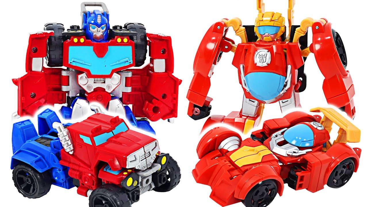 Transformers Rescue Bots Academy Optimus Prime, Hot Shot! Go!   DuDuPopTOY