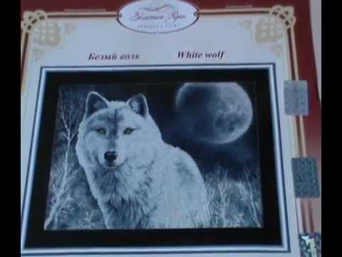 """Вышивка - """"Золотое руно"""" Белый волк - начало"""