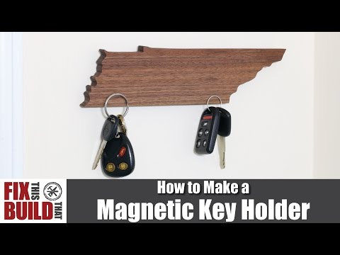 DIY Magnetic Key Holder (State Shaped) | How To Make It