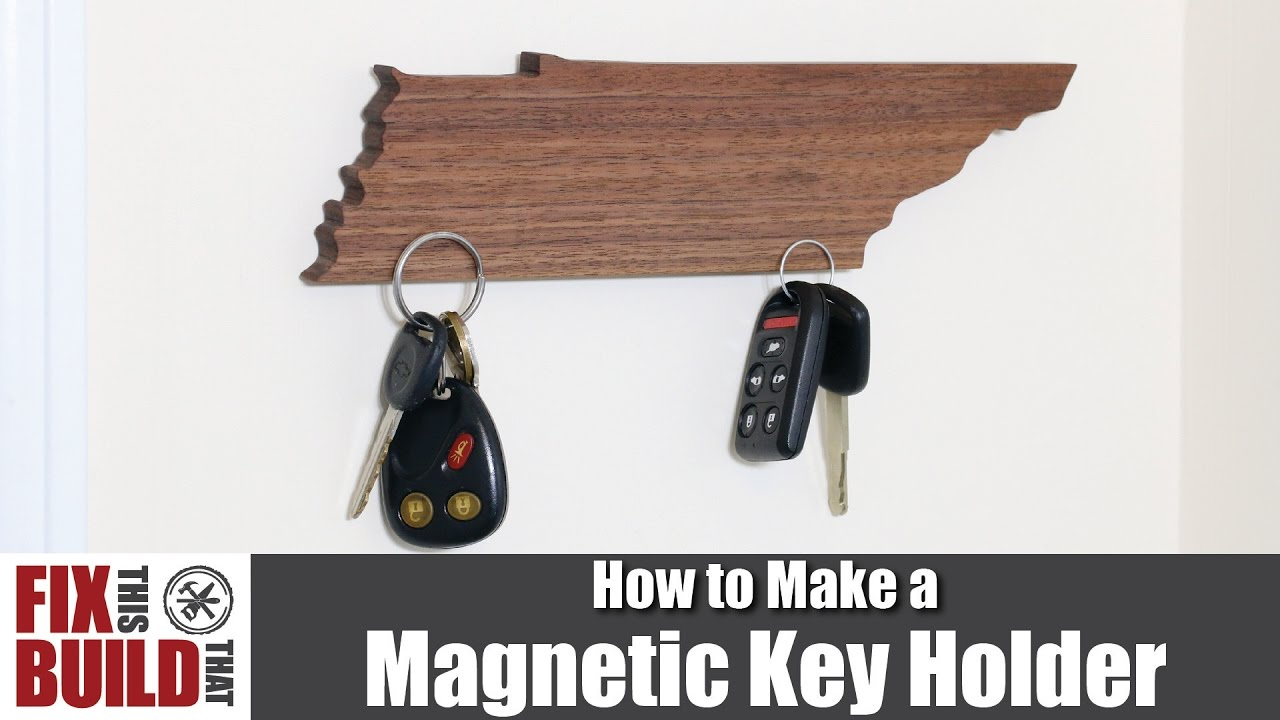 DIY Magnetic Key Holder (State Shaped) | How to Make It ...
