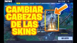 HOW TO CHANGE THE SKINS OF FORTNITE BATTLE ROYALE!! (VISUAL EFFECT ONLY)