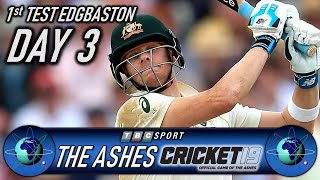 Cricket 19 The Ashes 1st Test Edgbaston Day 3 with Retro 90s BBC Coverage