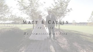 The Homestead at Zion Wedding Highlight Film | Matt & Catlin