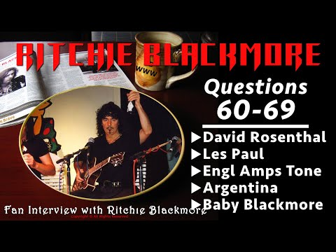 Ritchie Blackmore interview: Questions 60-69 UK David Rosenthal Les Paul Engl Tone 1996 Rainbow Fans