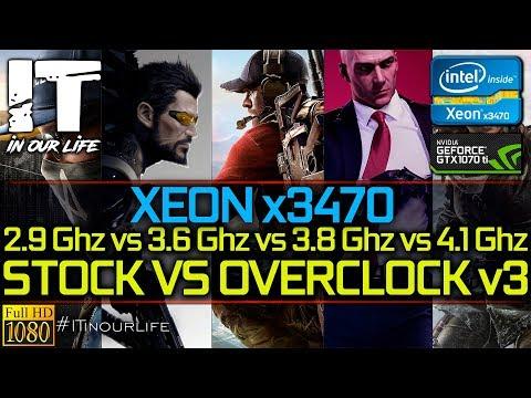 Xeon X3470/2.9Ghz Vs 3.6Ghz Vs 3.8Ghz Vs 4.1Ghz/STOCK VS OVERCLOCK V3/GTX 1070 Ti [1080p]