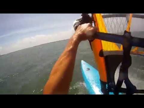 Stuart Windsurfing Jibe Practice 2014 4 29