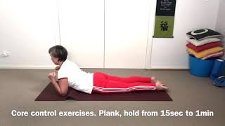 Strong lower back | Low plank | Core pose