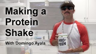 Making a Protein Shake with Domingo Ayala