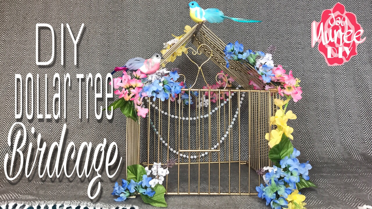 Dollar Tree Diy Decorative Birdcage Youtube