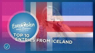 TOP 10: Entries from Iceland - Eurovision Song Contest