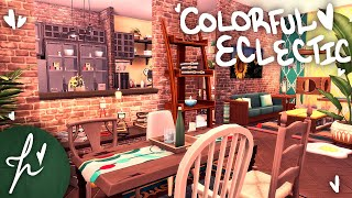 COLORFUL ECLECTIC APARTMENT (1BR + 1BA) || The Sims 4: Speed Build
