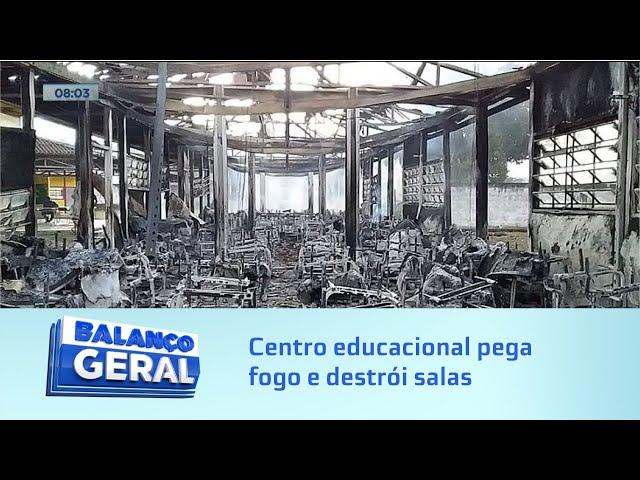 Em Matriz de Camaragibe: Centro educacional pega fogo e destrói salas