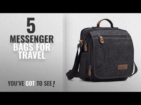 Top 10 Messenger Bags For Travel [2018]: Plambag Canvas Messenger Bag Small Travel School Crossbody