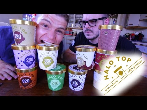 """Halo Top Review! ( ALL 10 NEW Flavors) """"Healthy Ice Cream"""""""