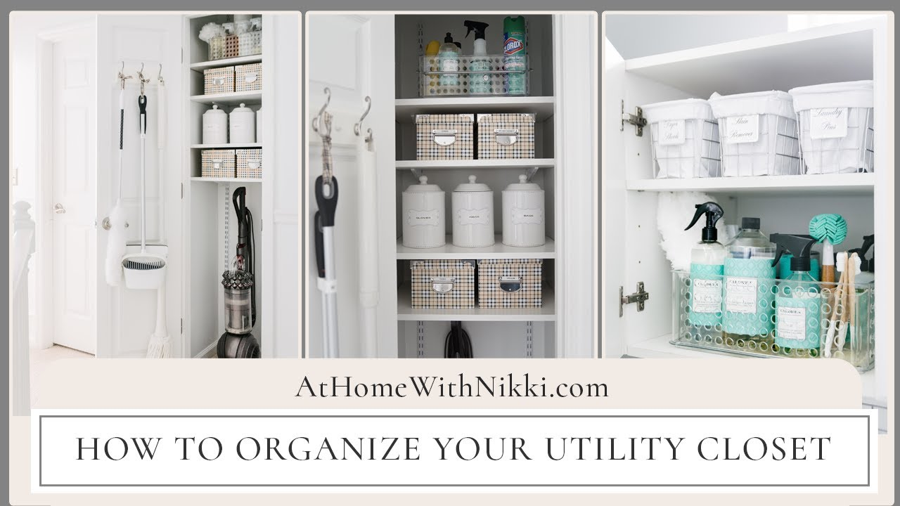 Home Organization How To Organize Your Utility Closet