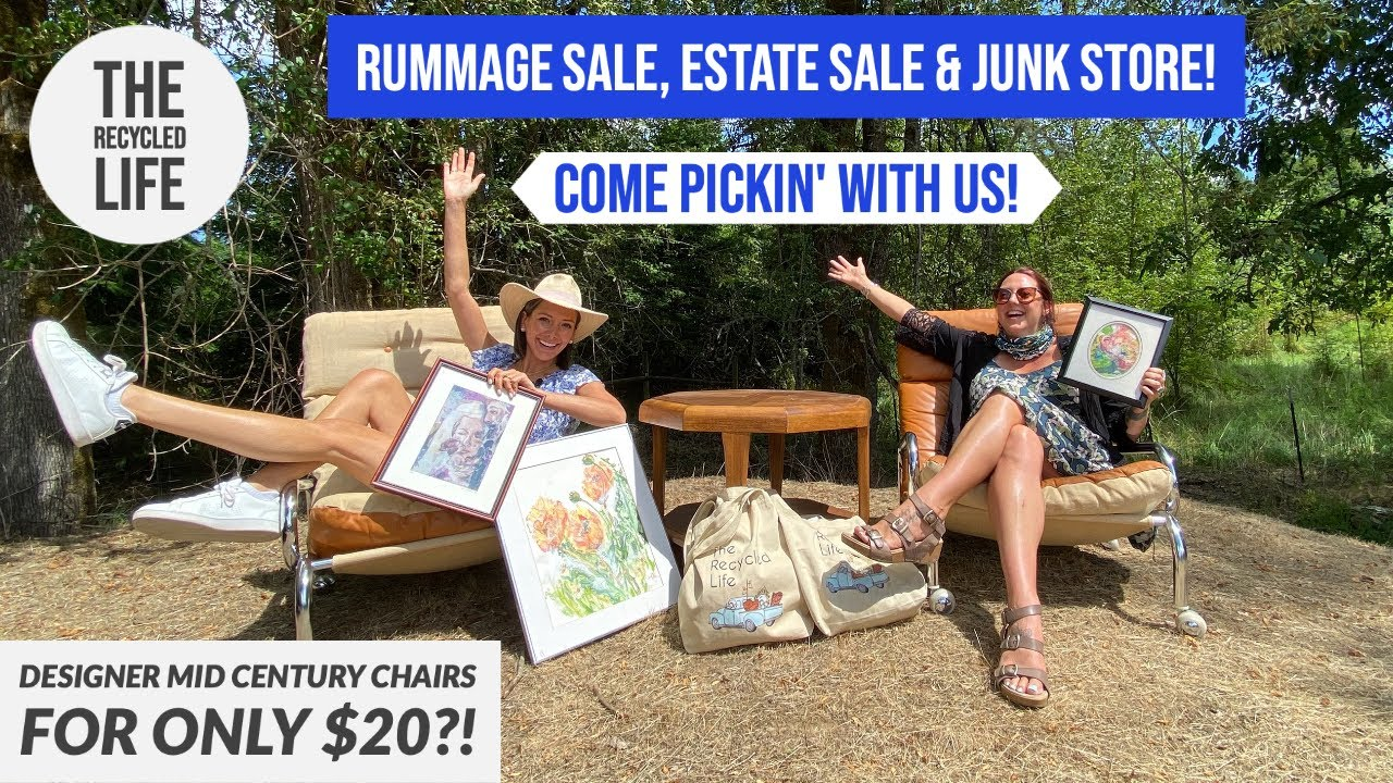 Thrift With Us! We hit the Mid Century JACKPOT! Rummage Sale, Estate Sale & Junk Store!