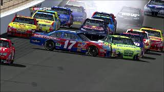 2008 UAW 400 Jeff Gordon Crash | NR2003 Reenactment (No Video)