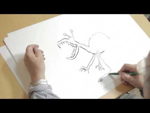 Quentin Blake draws a Hornswoggler