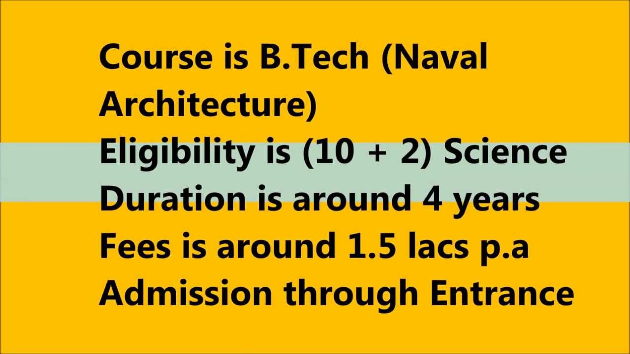 Naval Architecture as a course choice after 12th YouTube