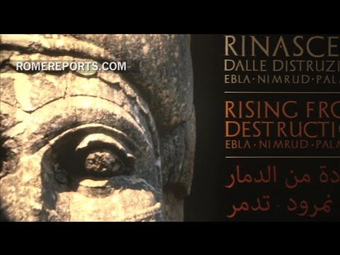 Art destroyed by ISIS is recreated in Colosseum in Rome