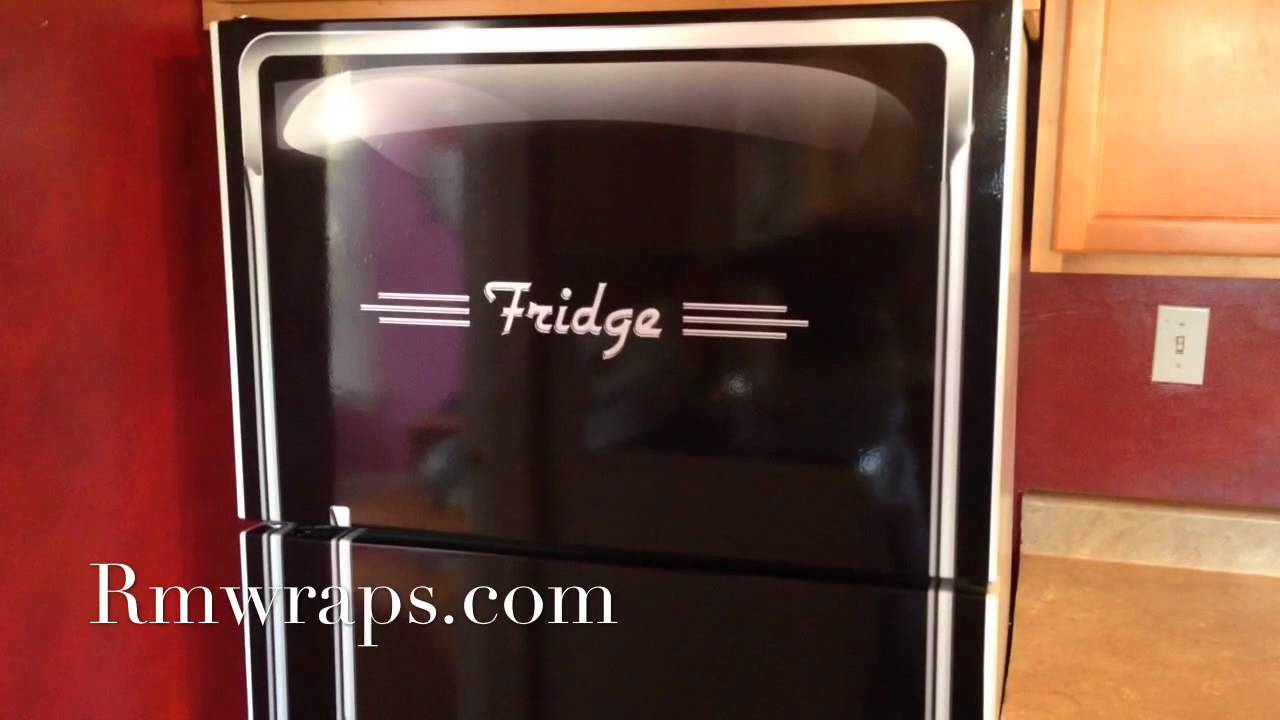 Door Wraps Custom Refrigerator Wrap Sticker 1950s Style Design Rmwraps