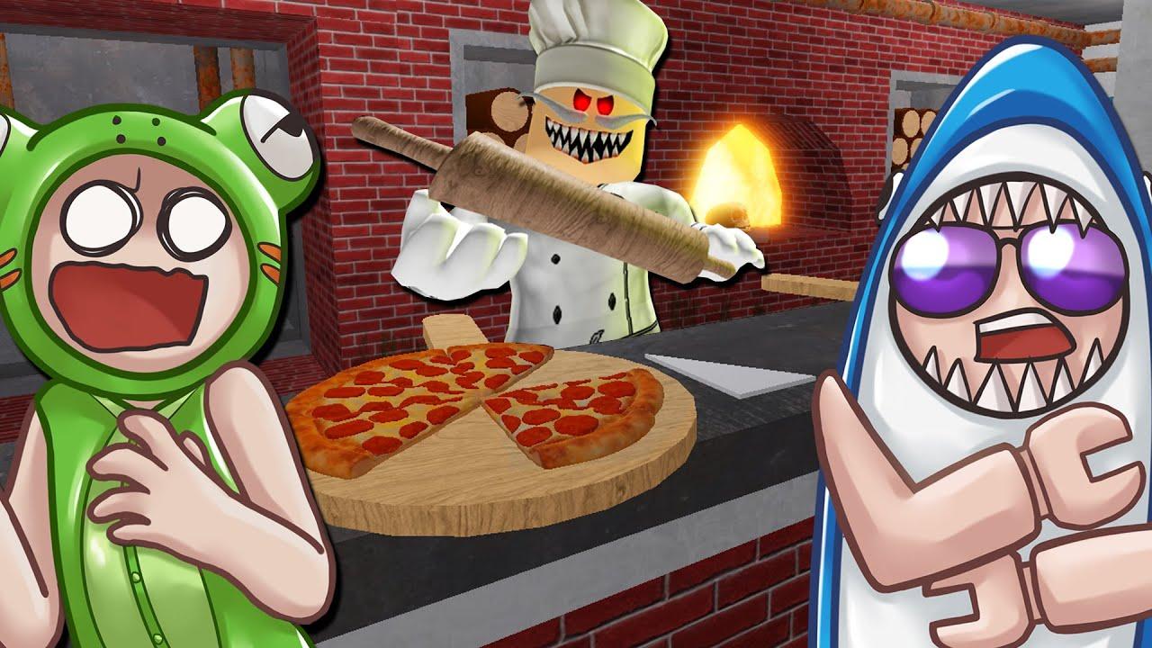 กบหลามหนีออกจากร้านพิซซ่าเนื้อมนุษย์! - Roblox