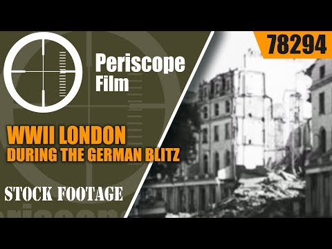 WWII LONDON DURING THE GERMAN BLITZ  LONDON CAN TAKE IT  w/ QUENTIN REYNOLDS 78294