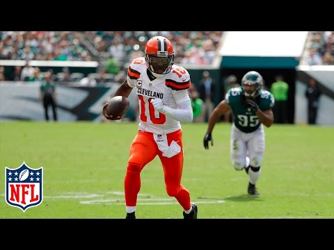 RGIII Injures Shoulder vs Eagles | Browns vs. Eagles | NFL