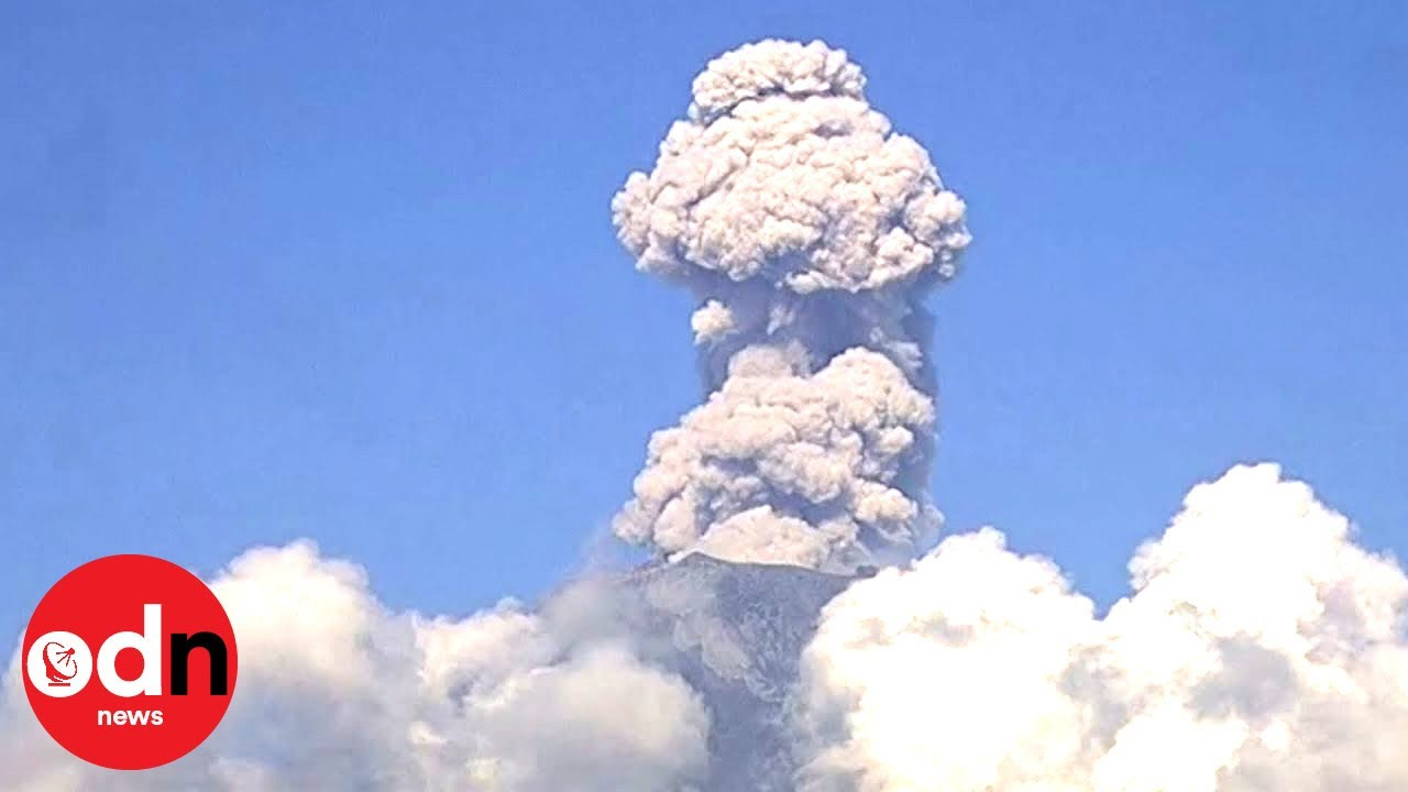Spectacular Explosion as Mexican Volcano Spews Giant Plume of Ash