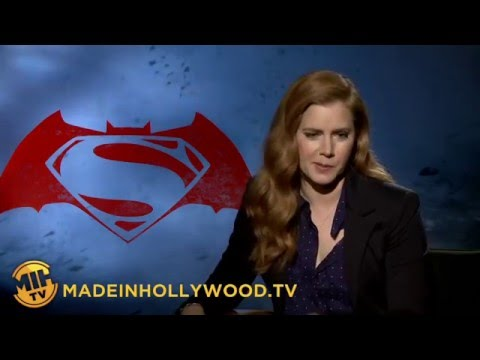 Amy Adams Uncut Interview Batman v Superman Dawn of Justice