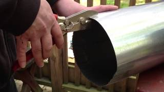 How to crimp round ductwork