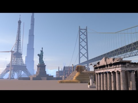 BUILDINGS at scale - 3D animation