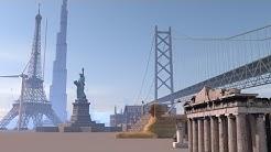 Buildings and structures size comparison