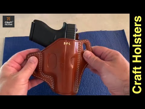 Glock 43 Craft Holsters Owb Leather Holster Review Panther Youtube