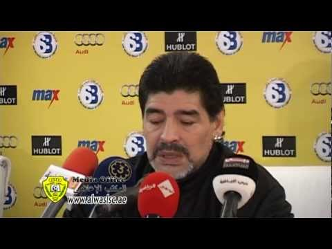 Press Conference by Diego Maradona on 13-02-2012