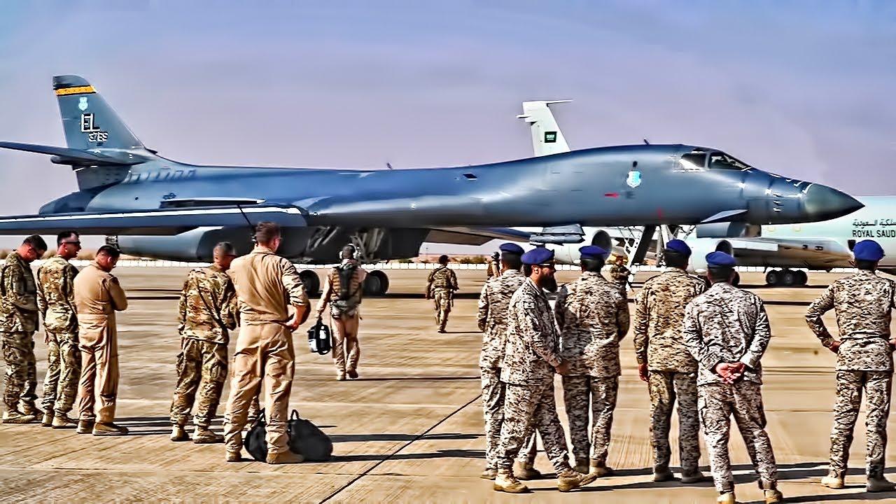 U.S. B-1B Lancer Bombers Go To Saudi Arabia (2019)