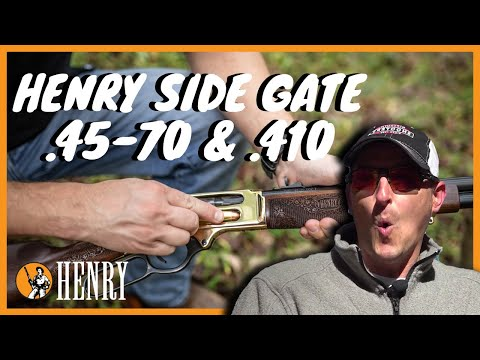 The Henry Side Gate Lever Action - Now In .45-70 Gov't & .410 Bore