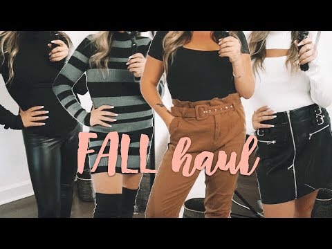 FALL CLOTHING HAUL   Forever 21 & Charlotte Russe thumbnail