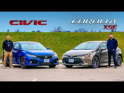 2019 Toyota Corolla Hatchback  vs. Honda Civic Hatchback // Is There A Wrong Answer?