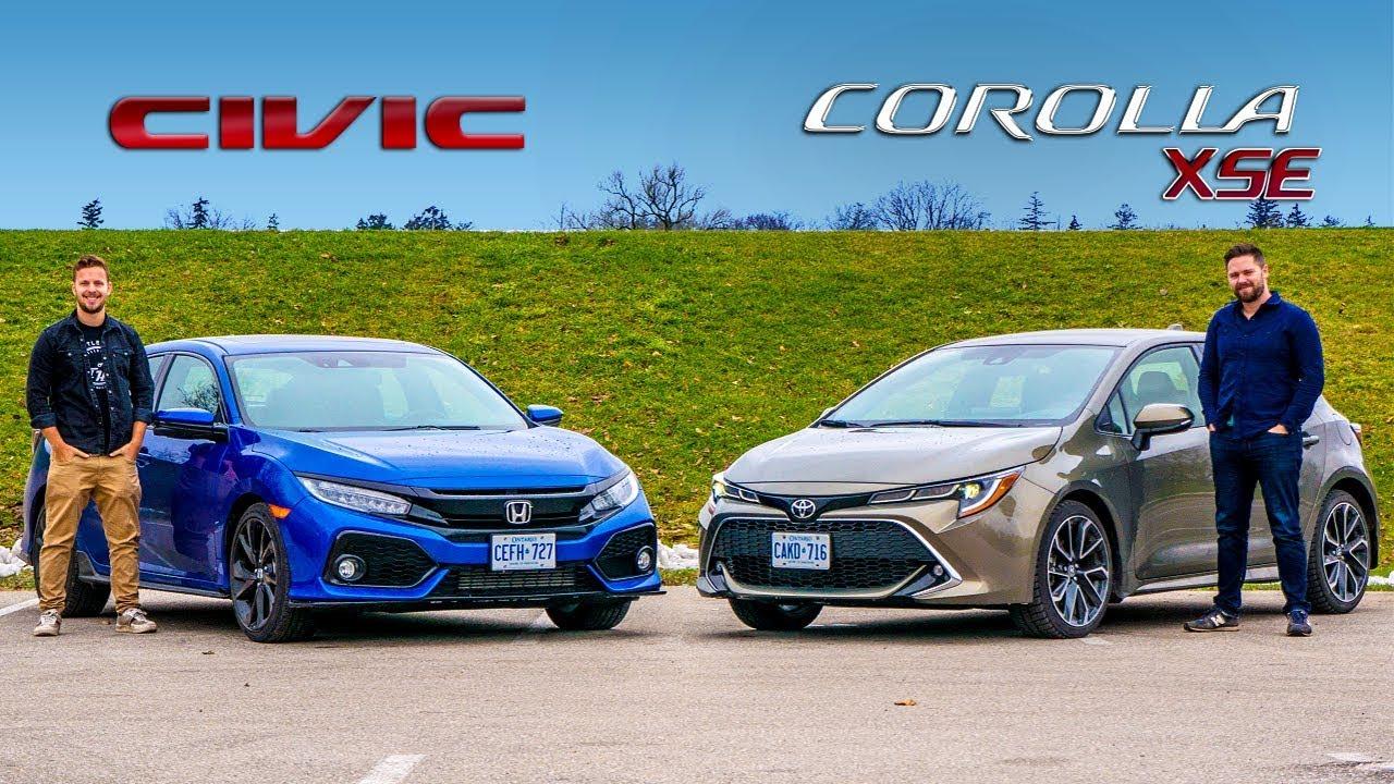 Toyota Corolla Vs Honda Civic >> 2019 Toyota Corolla Hatchback Vs Honda Civic Hatchback Is There A Wrong Answer