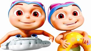 Five Little Babies Swimming In A Pool | Five Little Babies Collection | Zool Babies Fun Songs
